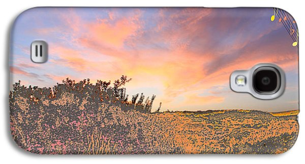Amazing Sunset Galaxy S4 Cases - Happy Sunset Galaxy S4 Case by Augusta Stylianou