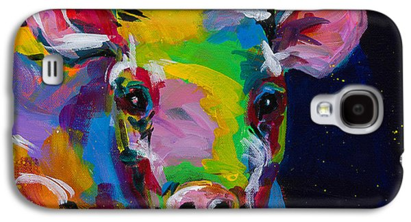 Piglets Paintings Galaxy S4 Cases - Happy Galaxy S4 Case by Tracy Miller