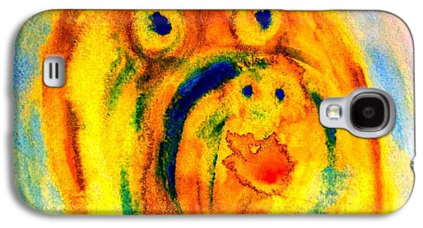 Component Paintings Galaxy S4 Cases - Happy Troll Galaxy S4 Case by Hilde Widerberg