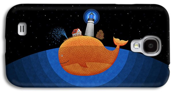 Animation Galaxy S4 Cases - Happy Whale House Galaxy S4 Case by Gianfranco Weiss