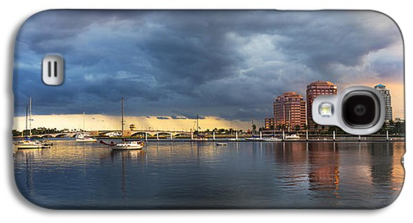 Sailboats At The Dock Galaxy S4 Cases - Harbor at West Palm Beach Galaxy S4 Case by Debra and Dave Vanderlaan