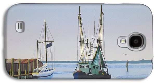 Etc. Paintings Galaxy S4 Cases - Harbor Days End Galaxy S4 Case by Gregory Murray