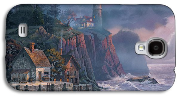 Tapestries Textiles Galaxy S4 Cases - Harbor Light Hideaway Galaxy S4 Case by Michael Humphries