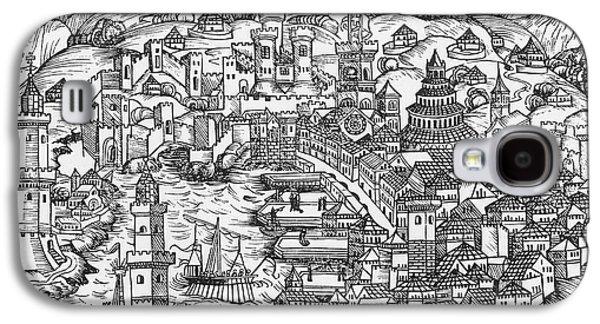 Harbor Of Genoa, 1493 Galaxy S4 Case by Granger