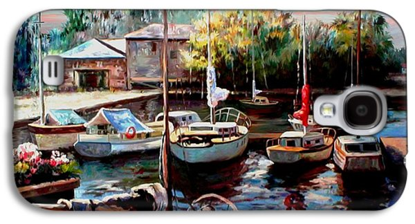 Sailboats In Harbor Galaxy S4 Cases - Harbor Sailboats at Rest Galaxy S4 Case by Ronald Chambers