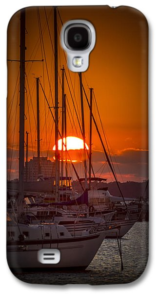 Sailboats In Water Galaxy S4 Cases - Harbor Sunset Galaxy S4 Case by Marvin Spates