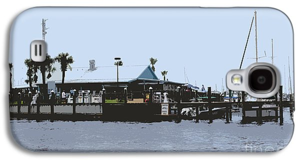 St. Lucie County Galaxy S4 Cases - Harbortown Marina Fuel Dock Galaxy S4 Case by Megan Dirsa-DuBois