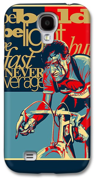 Style Paintings Galaxy S4 Cases - Hard as Nails vintage cycling poster Galaxy S4 Case by Sassan Filsoof
