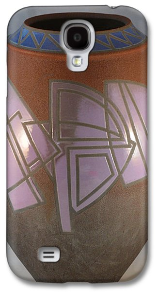 Nature Ceramics Galaxy S4 Cases - Hard Edge Orchid and Azure Galaxy S4 Case by Chris Tennis