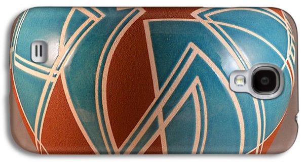 Fired Ceramics Galaxy S4 Cases - Hard Edge Rhythms Galaxy S4 Case by Chris Tennis