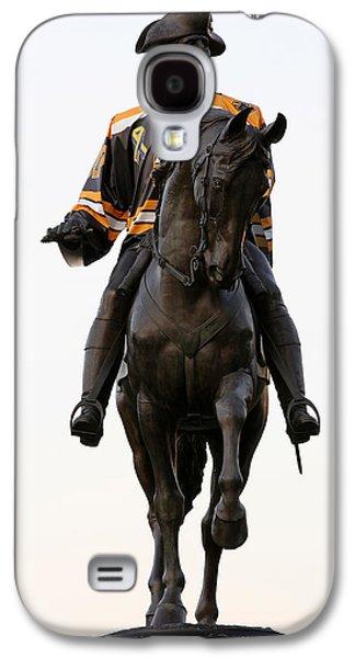 Statue Portrait Galaxy S4 Cases - Hardcore Boston Bruins Fan Galaxy S4 Case by Juergen Roth