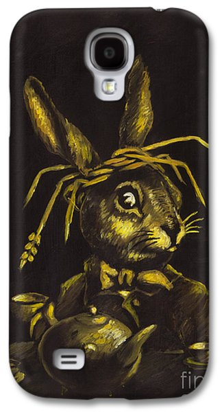 March Hare Galaxy S4 Cases - Hare Galaxy S4 Case by Suzette Broad
