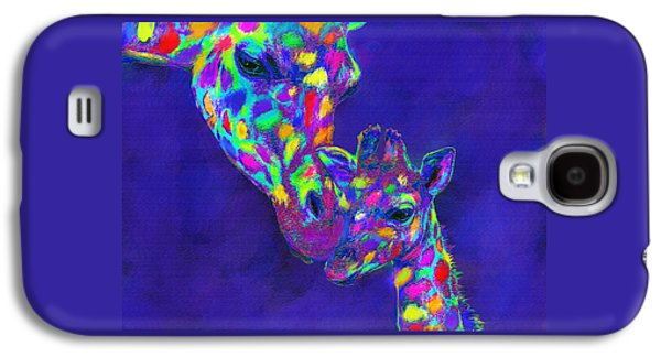 Giraffe Digital Galaxy S4 Cases - Harlequin giraffes Galaxy S4 Case by Jane Schnetlage