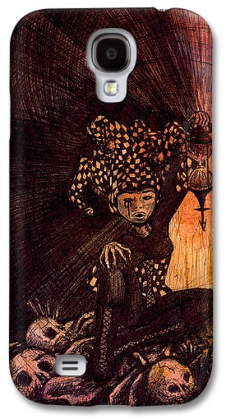 Juggling Drawings Galaxy S4 Cases - Hermetic Fool Galaxy S4 Case by Kd Neeley