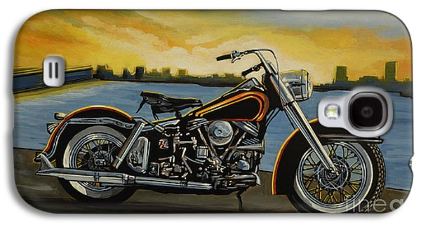 Museum Paintings Galaxy S4 Cases - Harley Davidson Duo Glide Galaxy S4 Case by Paul Meijering