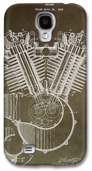 Mechanics Mixed Media Galaxy S4 Cases - Harley Davidson Engine Galaxy S4 Case by Dan Sproul