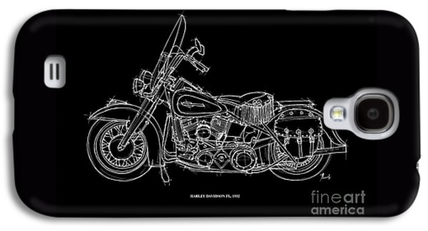Transportation Pastels Galaxy S4 Cases - Harley Davidson FL 1952 Galaxy S4 Case by Pablo Franchi
