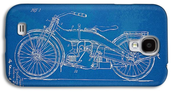 Harley-davidson Motorcycle 1924 Patent Artwork Galaxy S4 Case by Nikki Marie Smith