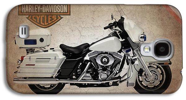 Police Galaxy S4 Cases - Harley Davidson Police Electra Glide Galaxy S4 Case by Mark Rogan