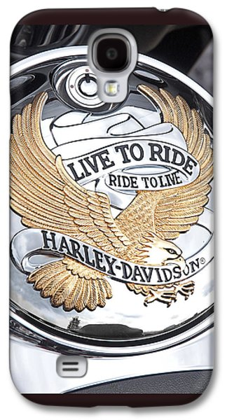 Close Photographs Galaxy S4 Cases - Harley Golden Eagle Emblem Galaxy S4 Case by Gill Billington