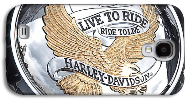 Landmarks Photographs Galaxy S4 Cases - Harley Golden Eagle Emblem Galaxy S4 Case by Gill Billington