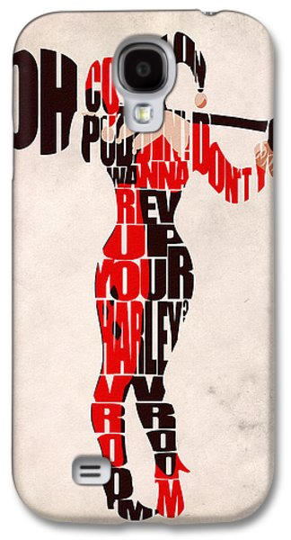 Wall Decor Galaxy S4 Cases - Harley Quinn Galaxy S4 Case by Ayse Deniz