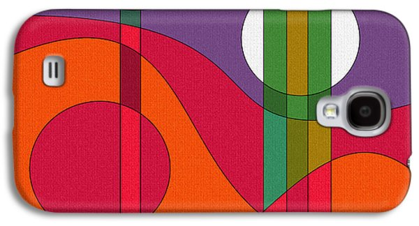 Color Block Galaxy S4 Cases - Harmony II Galaxy S4 Case by Val Arie