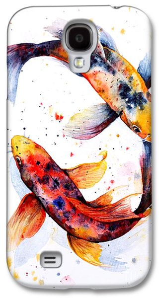 Fish Pond Galaxy S4 Cases - Harmony Galaxy S4 Case by Zaira Dzhaubaeva