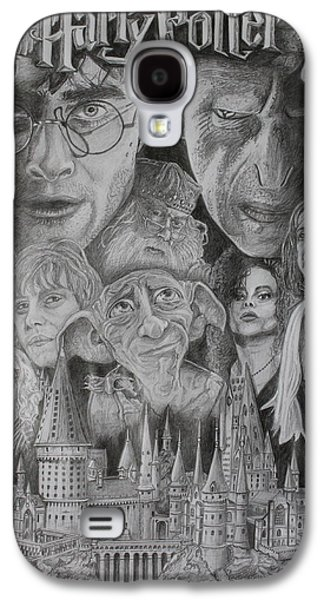 Hermione Granger Galaxy S4 Cases - Harry Potter Montage Galaxy S4 Case by Mark Harris