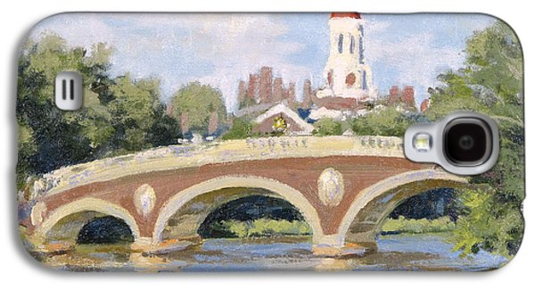 Cambridge Paintings Galaxy S4 Cases - Harvard Footbridge Galaxy S4 Case by Steven A Simpson