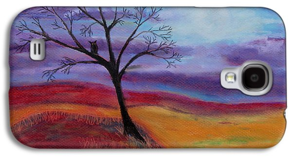 Autumn Landscape Pastels Galaxy S4 Cases - Harvest Moon 3 Galaxy S4 Case by Jeanne Fischer