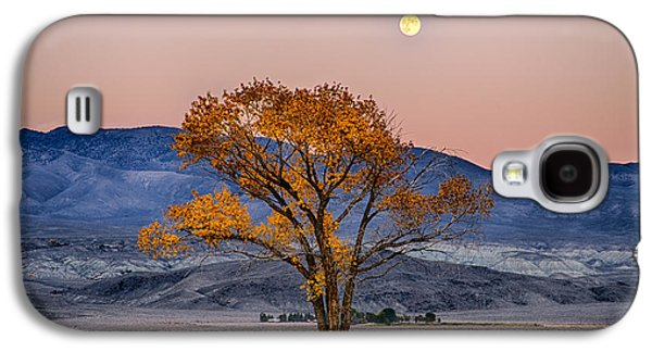 Moonlit Night Photographs Galaxy S4 Cases - Harvest Moon Galaxy S4 Case by Cat Connor