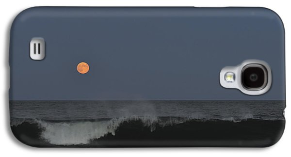 Sea Moon Full Moon Galaxy S4 Cases - Harvest Moon Seaside Park NJ Galaxy S4 Case by Terry DeLuco