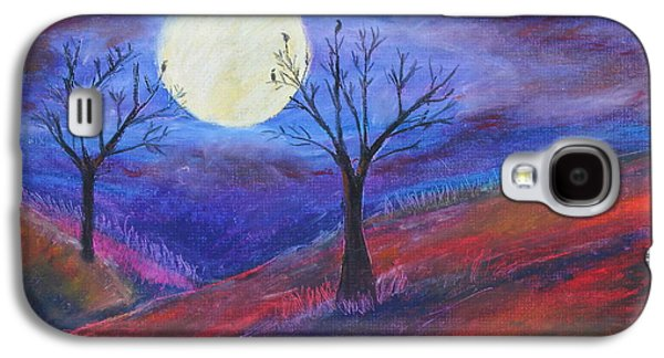 Autumn Landscape Pastels Galaxy S4 Cases - Harvest Moon1 Galaxy S4 Case by Jeanne Fischer