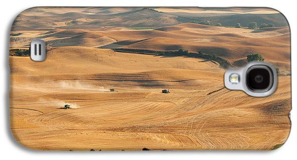 Machinery Galaxy S4 Cases - Harvest Overview Galaxy S4 Case by Mary Jo Allen