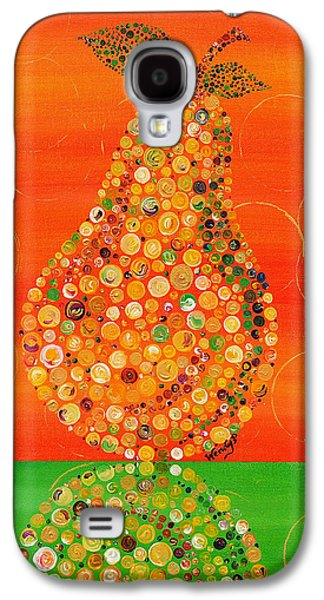 Gold Lime Green Galaxy S4 Cases - Harvest Pear Galaxy S4 Case by Wendy Provins