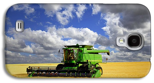 Machinery Galaxy S4 Cases - Harvest Time Galaxy S4 Case by John Hall
