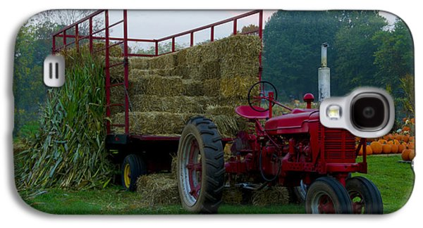 Harvest Time Galaxy S4 Cases - Harvest Time Tractor Galaxy S4 Case by Bill Cannon