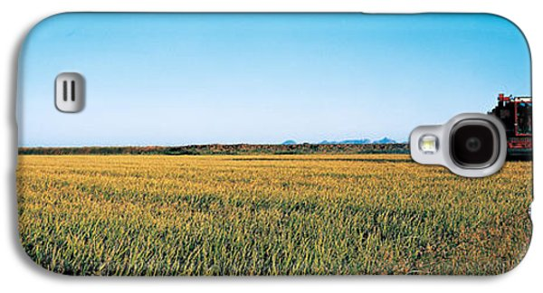 Machinery Galaxy S4 Cases - Harvested Rice Field Glenn Co Ca Usa Galaxy S4 Case by Panoramic Images