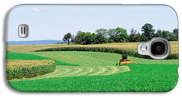Machinery Galaxy S4 Cases - Harvesting, Farm, Frederick County Galaxy S4 Case by Panoramic Images
