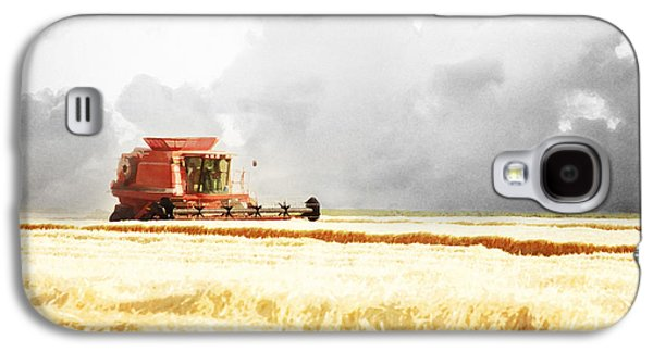 Harvest Art Galaxy S4 Cases - Harvesting the Grain Galaxy S4 Case by Cindy Singleton