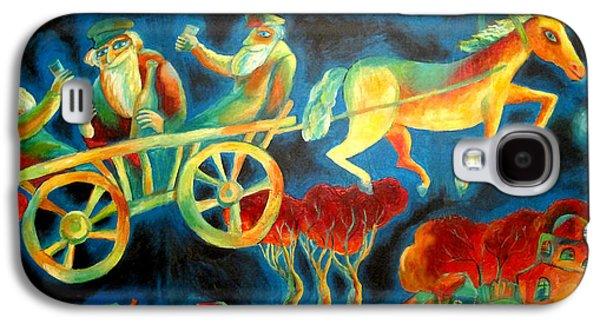 Jerusalem Paintings Galaxy S4 Cases - Hasidishe journey to Rebbe  Galaxy S4 Case by  Leon Zernitsky