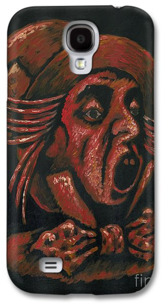 Mad Hatter Paintings Galaxy S4 Cases - Hatter Galaxy S4 Case by Suzette Broad