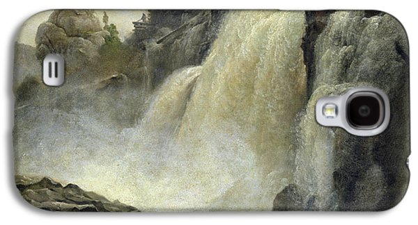 River View Paintings Galaxy S4 Cases - Haugfoss in Norway Galaxy S4 Case by Christian Ernst Bernhard Morgenstern