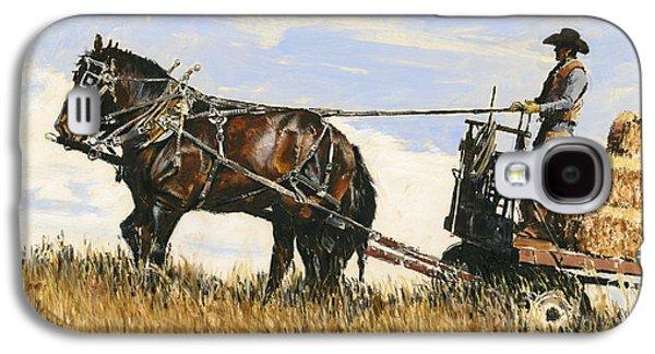 Hauling Hay Galaxy S4 Case by Don  Langeneckert
