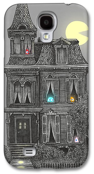 Haunted House Drawings Galaxy S4 Cases - Haunted by the 80s  Galaxy S4 Case by Terry  Fan