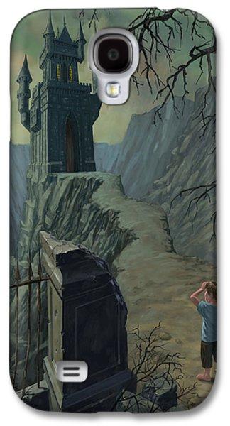 Creepy Digital Galaxy S4 Cases - Haunted Castle Nightmare Galaxy S4 Case by Martin Davey