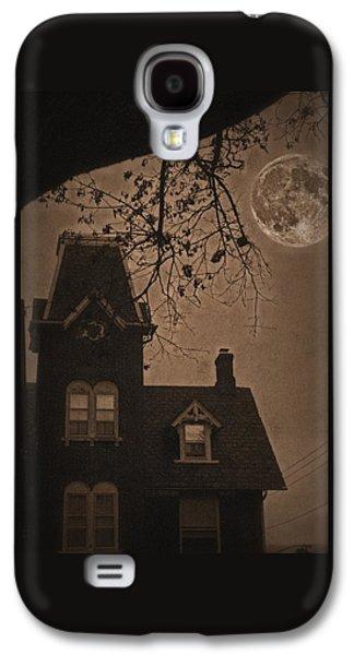 Haunted House Digital Galaxy S4 Cases - Haunted Galaxy S4 Case by DJ Florek
