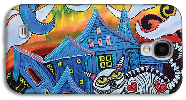 Haunted House Paintings Galaxy S4 Cases - Haunted Hollow Galaxy S4 Case by Laura Barbosa