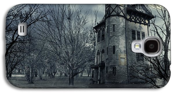 Moon Digital Galaxy S4 Cases - Haunted house Galaxy S4 Case by Jelena Jovanovic